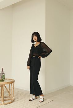 All Black Fashion, Korean Style, Korean Fashion, Wednesday, Cool Outfits, Normcore, Street Style, Formal, My Style