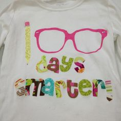 Appliqué shirt for 100th day of school!!