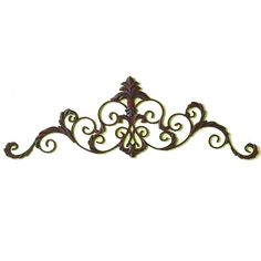 "This flurry of scrolls embellished with acanthus ornamentation makes an excellent topper for windows, doorways or paintings. Available in your selection of three finishes.brbrliDimensions: 47""w ..."