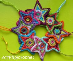 Christmas star twin set by ATERGcrochet by ATERGcrochet on Etsy