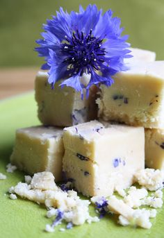 cornflower and lavender fudge