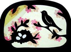 Patroon - Vogel bij nest