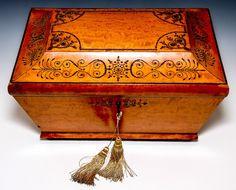 """Huge 16"""" Antique French Marriage Box, Chest, Casket, c.1700s, Cut Steel Pique"""