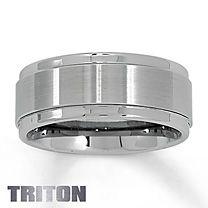 Triton Tungsten Carbide Band for Him    Mason's wedding band :)