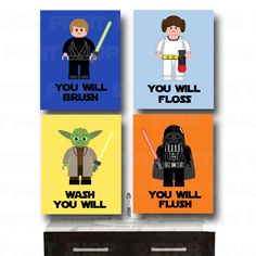 LEGO Star Wars Bathroom Wall Art  Jedi Mind by StarWarsPrintShop, $32.00