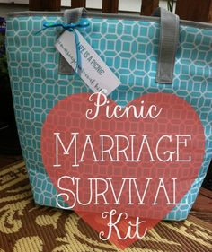 I put together this picnic marriage survival kit as a wedding gift for some family friends. I wanted to give them something practical and ...