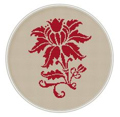Red Flower cross stitch pattern cross stitch por MagicCrossStitch