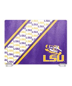 Loving this LSU Tigers Tempered Glass Cutting Board on #zulily! #zulilyfinds