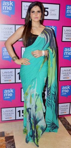 Zarine Khan at the Lakme Fashion Week 2015. #Bollywood #Fashion #Style #Beauty #LFW15
