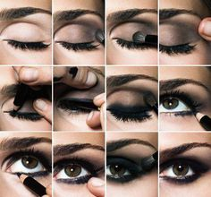 Smokey Eyes Makeup Black How To Do Smokey Eye Makeup Top 10 Tutorial Pictures For 2019 Smokey Eyes Makeup Black Affordable Neutral Black Smokey Eye Makeup Tutorial Beauty Teacher. Smokey Eyes Makeup Black Simple But Dramatic Smokey Eye M. Beautiful Eye Makeup, Love Makeup, Beautiful Eyes, Makeup Tips, Makeup Looks, Hair Makeup, Makeup Tutorials, Makeup Ideas, Black Makeup