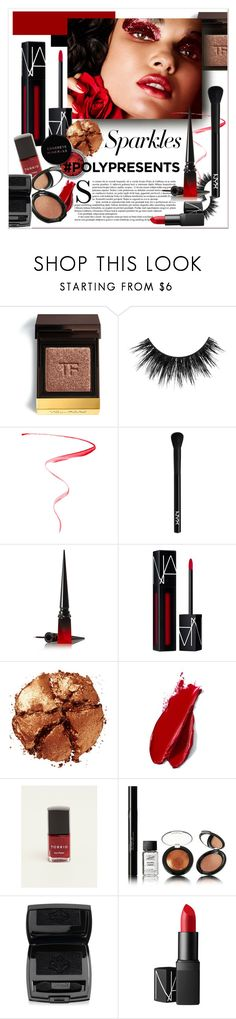"""#PolyPresents: Sparkly Beauty"" by stylemeup-649 ❤ liked on Polyvore featuring beauty, Tom Ford, Christian Louboutin, NYX, NARS Cosmetics, Pat McGrath, Concrete Minerals, Balmain, Torrid and Lancôme"