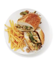 Chicken Philly Cheesesteaks With Fries   Want to get a leg up on dinner? Keep a bulk pack of this flavorful, budget-friendly cut in the freezer—and these easy recipes in your weeknight rotation.
