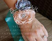 Custom Full Fabric Bridal Wedding Bouquet. $300.00, via Etsy.