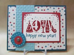 stampin up new year card
