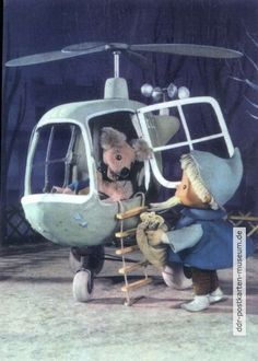 Sandmännchen mit Struppi und Hubschrauber - 1965