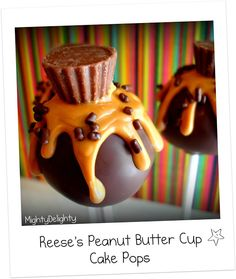 Mighty Delighty: Reese's Peanut Butter Cup Cake Pops
