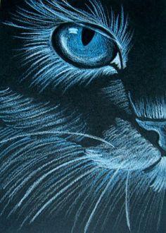 """""""Blue Cat"""" par Cyra R. Cancel"""