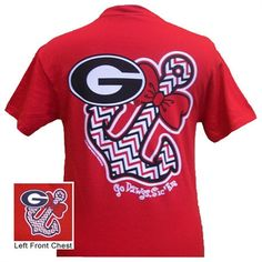 Georgia Anchor Bow Tie T-Shirt