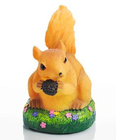 Keep little ones comforted with the soothing glow from this sweet squirrel statue that doubles as a night-light. Featuring eco-friendly LED lights and a five-hour automatic shut-off timer, it's a portable piece to help tuckered-out tots sleep soundly wherever they lie.