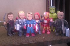 Make your own paper Avengers...and X-Men! Free printables! These are so awesome! (Time to go buy some new ink cartridges)