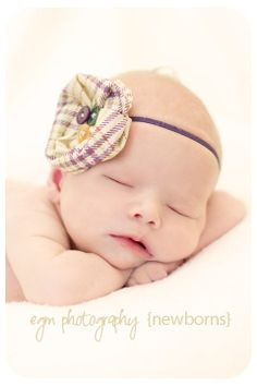 Purple Houndstooth Poppy Headband...Baby Flower Headband...Newborn Headband...Flower Headband...Baby Headband. $8.36, via Etsy.