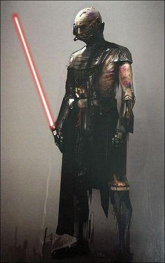 Battle damaged Darth Vader