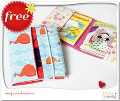 Umschlag für Mini-Kinderbücher - Schnittmuster und Nähanleitungen bei Makerist