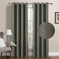 Amazon.com: H.Versailtex Classical Grommet Top Room Darkening Thermal Insulated Heavy Weight Textured Tiny Plaid Linen Like Innovated Extra Long Curtains&Drapes,52 by 108 Inch-Tan (1 Panel): Kitchen & Dining