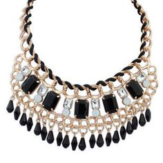 Caroline Elegant Statement Necklace Caroline Elegant Statement Necklace £12.00  Black doesn't have to be dull and this gorgeous necklace is far from it. Needless to say, this elegant little number is best worn with an outfit that allows the necklace to decorate the neckline and mesmerise those who steal a glance, a classy and elegant addition to any outfit.