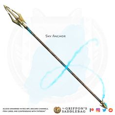Fantasy Sword, Fantasy Weapons, Fantasy Warrior, Cosplay Weapons, Anime Weapons, Dungeons And Dragons Homebrew, D&d Dungeons And Dragons, Spears Weapon, Armas Ninja