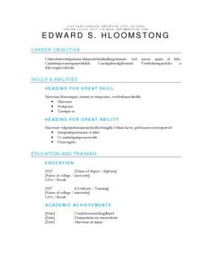 Accomplished  Resume Format    Template And Resume Format