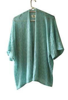 Kimono menta  #recycledfabric #sustainablefashion #ecobrand #wovenfabric #kimono #madewithlove #bohochic #residuozero