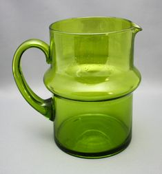 """Talonpoika"" blown pitcher, Humppila glass factory, 1970. Photo from www.astiataivas.fi"