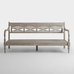 A solid rubberwood construction and antique gray finish make our Indonesian daybed frame a durable and stylish addition to your home. World Market Store, Furnishings, House Design, Daybed, Durable, Furniture, Frame, Living Room Decor, Nursery Daybed