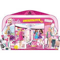 Barbie Fun with Fashion 150 Piece Puzzle: Any young fashionista will adore piecing together this colorful Barbie™ puzzle, but the fun doesn't stop there…Once the puzzle is complete, you can dress Barbie and her friends in seven different outfits!  http://www.calendars.com/Kids-Puzzles/Barbie-Fun-with-Fashion-150-Piece-Puzzle/prod201300010381/?categoryId=cat490044=cat490044
