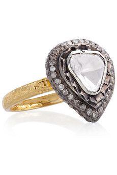 Artisan 14-karat gold diamond ring