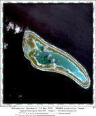 Nikumaroro: Satellite imagery by Space Imaging Corp