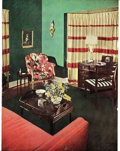 1940s Decorating Style 1940s living room 1940s and Clutter