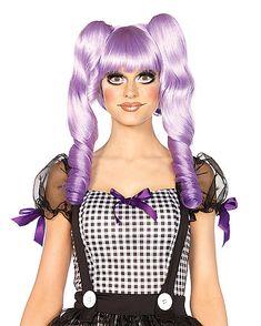 Dolly Lavender Bob Wig - Spirithalloween.com