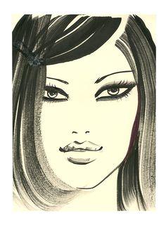 Jason Brooks: www.folioart.co.uk/illustration/folio/artists/illustrator/jason-brooks - Agency: www.folioart.co.uk - #illustration #art #fashion #ink