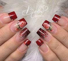 Nail Polish Designs, Acrylic Nail Designs, Nail Art Designs, Nail Manicure, Gel Nails, Acrylic Nails, Cute Spring Nails, Cute Nails, Holiday Nail Designs