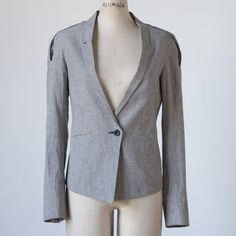 Navy Sava Pinstripe Jacket - Chic and expensive! $189?!?!