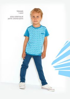 Dis Une Couleur - TIDIAMS BLUE T-SHIRT Elegant Outfit, Little Ones, Children, Kids, Style Inspiration, Warm, Fabric, How To Make, T Shirt