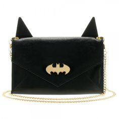 DC Comics Batman Ears and Logo Envelope Clutch Wallet With Chain b0cf5e3c94d02