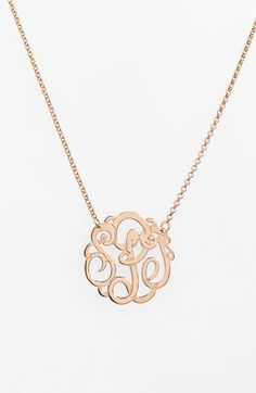Argento Vivo Personalized Small 3-Initial Letter Monogram Necklace (Nordstrom Exclusive) | Nordstrom