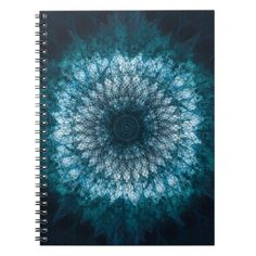 Indigo Blue Mandala Notebook - sample design diy personalize idea
