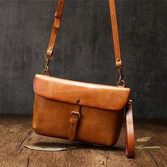 Small Leather Satchel Side Bag – iLeatherhandbag