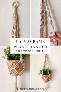 Crochet Plant Hanger, Macrame Plant Hanger Patterns, Macrame Wall Hanging Diy, Macrame Plant Holder, Macrame Patterns, Macrame Square Knot, Macrame Knots, Macreme Plant Hanger, Wall Plant Hanger