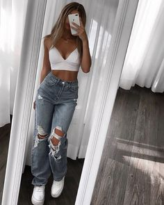 Swaggy Outfits, Cute Comfy Outfits, Cool Outfits, Cute Summer Outfits For Teens, Back To School Outfits Highschool, Pretty Little Liars Outfits, Vest Outfits, Trendy Summer Outfits, Simple Outfits