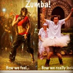 Omg! This must be how they feel when they do Zumba.But Kayleigh & I are always feeling like the realistic picture of how it looks.Lmao!